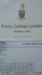 Shardul Joshi Grade I Distinction