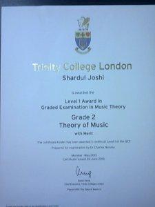 Shardul Joshi -86/100 II Grade